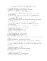 TỔNG hợp câu hỏi ôn tập môn THÔNG TIN số