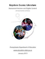 literature  assessment anchors and eligible content with sample items and glossary jan 2013