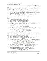 Bài tập xác suất thống kê (có lời giải)