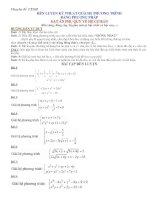 Giải hệ phương trình bằng phương pháp đặt ẩn phụ