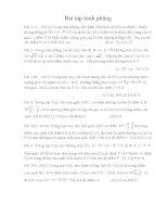 Bài tập hình phẳng