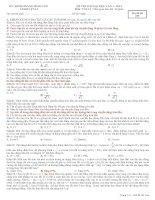 Tuyển chọn các đề thi thử đại học môn vật lý năm 2014 hay có đáp án