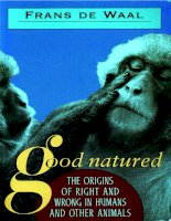 harvard university press good natured the origins of right and wrong in humans and other animals mar 1996