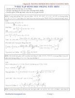 Bài tập về đường thẳng - đường tròn
