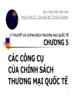 Bài giảng Lý thuyết và chính sách thương mại quốc tế: Chương 5  TS. Nguyễn Văn Sơn
