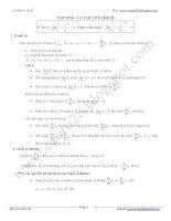 Lý thuyết và bài tập lý thuyết chuỗi