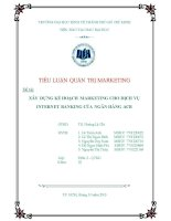 Xây dựng kế hoạch marketing cho dịch vụ internet banking của ngân hàng ACB