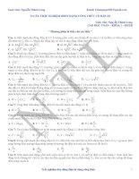 73 câu trắc nghiệm dao động điện từ dạng công thức có đáp án