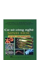 Cơ sở công nghệ sinh học tập 4 -công nghệ vi sinh