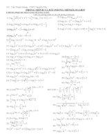 Tuyển tập Phương trrình và bất phương trình logarit