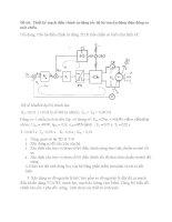 Bài tập lớn điện cơ  thiết kế mạch điều chỉnh tự động tốc độ hệ truyền động điện động cơ một chiều