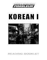 Sách học tiếng Hàn Quốc theo phương pháp Pimsleur