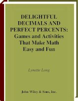 delightful decimals and perfect percents, games and activities that make math easy and fun - long