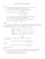 Bài tập xác suất thống kê có lời giải