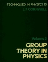 john f  cornwell group theory in physics, volume 3 supersymmetries and infinite-dimensional algebras techniques of physics  1989