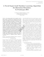A novel supervised machine learning algorithm for intrusion detection k Prototype+ID3