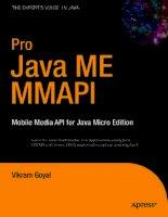 pro java me mmapi mobile media api for java micro edition