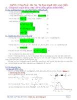 Bài tập về công suất điện xoay chiều Dành cho học sinh tự học