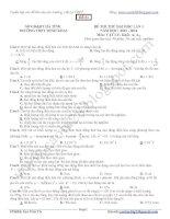 Tuyển tập 15 đề thi thử của các trường THPT