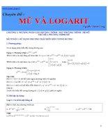 Chuyên đề Mũ và Logarit