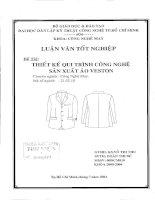 Thiết kế quy trình công nghệ sản xuất áo veston