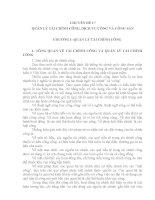 Tài liệu ôn thi công chức chuyên ngành Quản lý nhà nước ( mới )