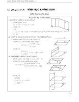 Chuyên đề hình học không gian (Hướng dẫn giải các dạng bài tập từ các đề thi quốc gia toán học. )