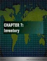 Tài liệu tiếng Anh thương mại Chap007 Inventory