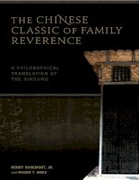 university of hawaii press the chinese classic of family reverence a philosophical translation of the xiaojing feb 2009