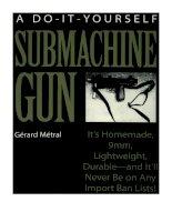 do it yourself submachine gun - gerard metral - paladin press