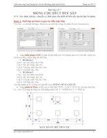 Plaxis 3D  Bài 7  Móng Cọc Bê Tông cốt Thép Đúc Sẵn