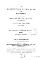 wigney - 1838 - an elementary dictionary (of the brewers trade)