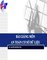 Bài giảng môn An toàn cơ sở dữ liệu - GV: Nguyễn Phương Tâm