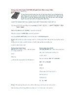 Dùng máy tính casio Fx570ES để giải toán điện xoay chiều