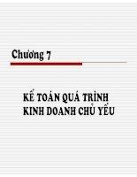 Bài giảng nguyên lý kế toán chương 7   TS  trần văn thảo