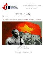 Tiểu luận vai trò của hồ chí minh trong cách mạng tháng tám năm 1945
