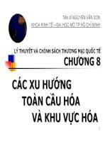 Bài giảng Lý thuyết và chính sách thương mại quốc tế: Chương 8 TS. Nguyễn Văn Sơn