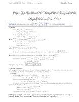 Tuyển tập 28 bài hệ phương trình hay ôn thi đại học năm  2014