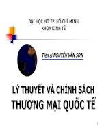 Bài giảng Lý thuyết và chính sách thương mại quốc tế: Chương 1  TS. Nguyễn Văn Sơn