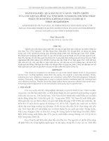 ĐÁNH GIÁ HIỆU QUẢ sản XUẤT CAO SU THIÊN NHIÊN  của các hộ GIA ĐÌNH tại TỈNH KON TUM BẰNG PHƯƠNG PHÁP PHÂN TÍCH ĐƯỜNG GIỚI hạn (DEA) và hồi QUY  TOBIT REGRESSION