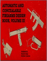 automatic and concealable firearms design book vol iii - paladin press