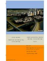 Civil 3D 2012 – Thiết kế kỹ thuật hạ tầng đô thị