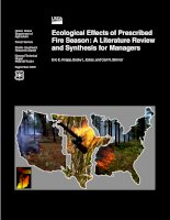 Ecological Effects of PrescribedFire Season A Literature Reviewand Synthesis for Managers