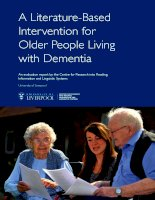 a literature based intervention for older people living with dementia