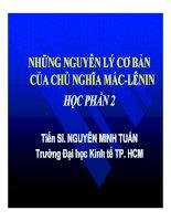 Bài giảng Triết học Mác-Lênin : Chương 4 - Thạc sĩ Nguyễn Minh Tuấn