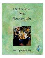 Litureature cireles in the elementary grades