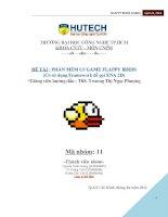 Chương trình  game flappy bird sử dụng Framework gọi XNA 2D