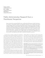 Public administration research from a practitioner perspective