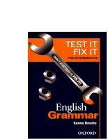 test it fix it english grammar pre-intermediate level sep 2003