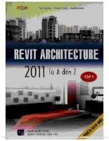 Sách Revit Architecture 2011 từ A đến Z tập 1
